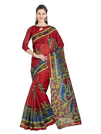 amazon com women s art silk peacock printed saree indian sari dress