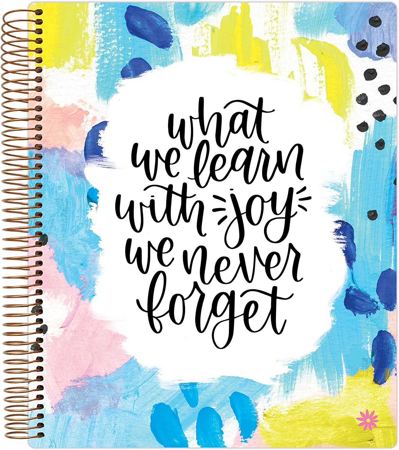 bloom daily planners New Undated Academic Year Teacher Planner & Calendar - Lesson Plan Organizer Book with New Frosted Cover (9