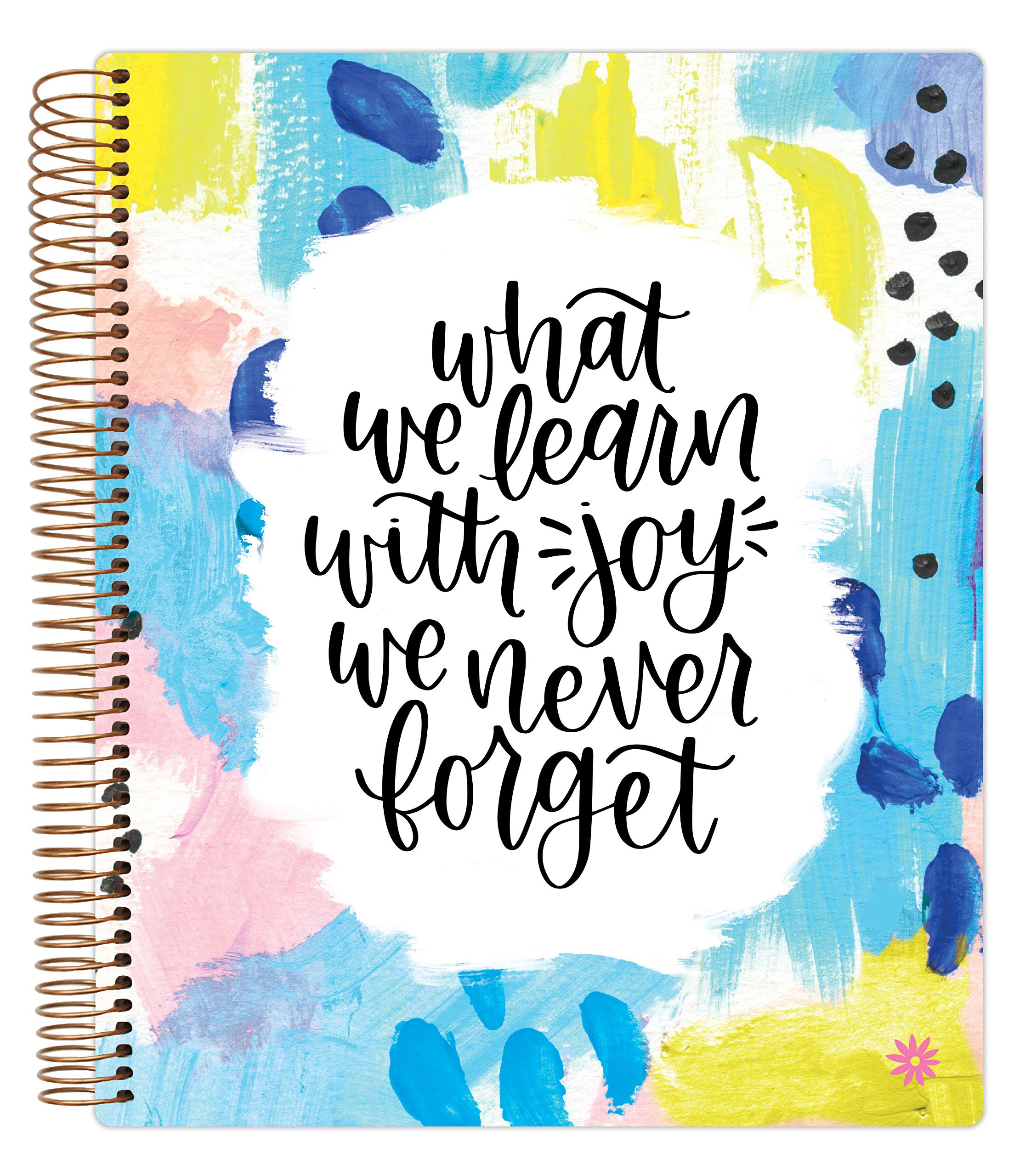 bloom daily planners Undated Academic Year Teacher Planner & Calendar - Lesson Plan Organizer Book (9'' x 11'') - Learn with Joy by bloom daily planners
