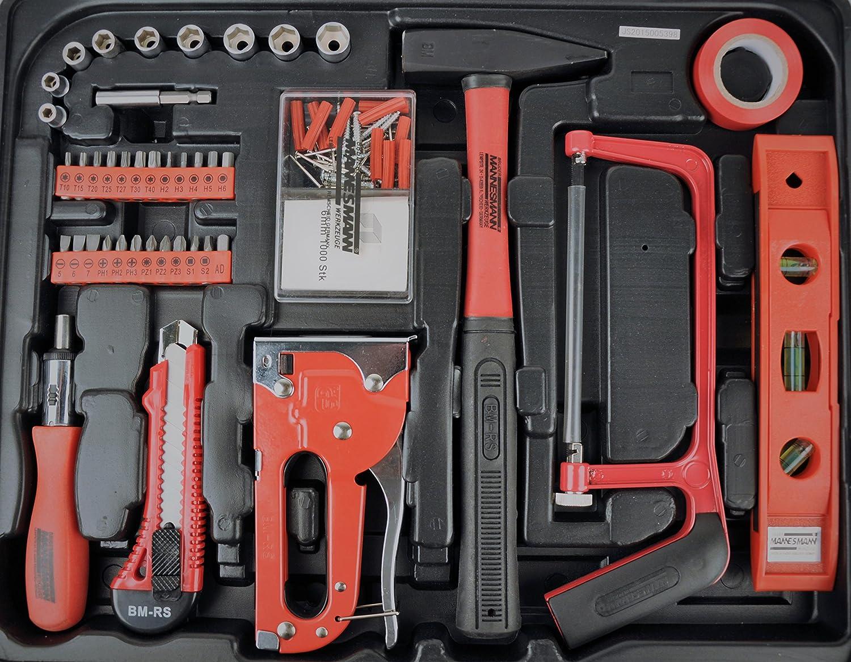 Mannesmann - M29065 - Gama de herramientas del hogar en maletín abatible: Amazon.es: Bricolaje y herramientas
