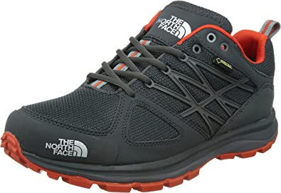 The North Face - Zapatillas para correr en montaña para hombre Dark Shadow Grey/Valencia Orange: Amazon.es: Zapatos y complementos