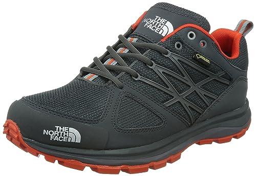 The North Face - Zapatillas para Correr en montaña para Hombre Dark Shadow Grey/Valencia Orange: Amazon.es: Zapatos y complementos