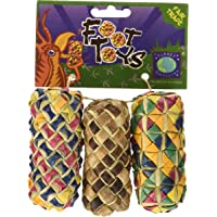 Planet Pleasures Woven Cylinder Foot Toy, Small