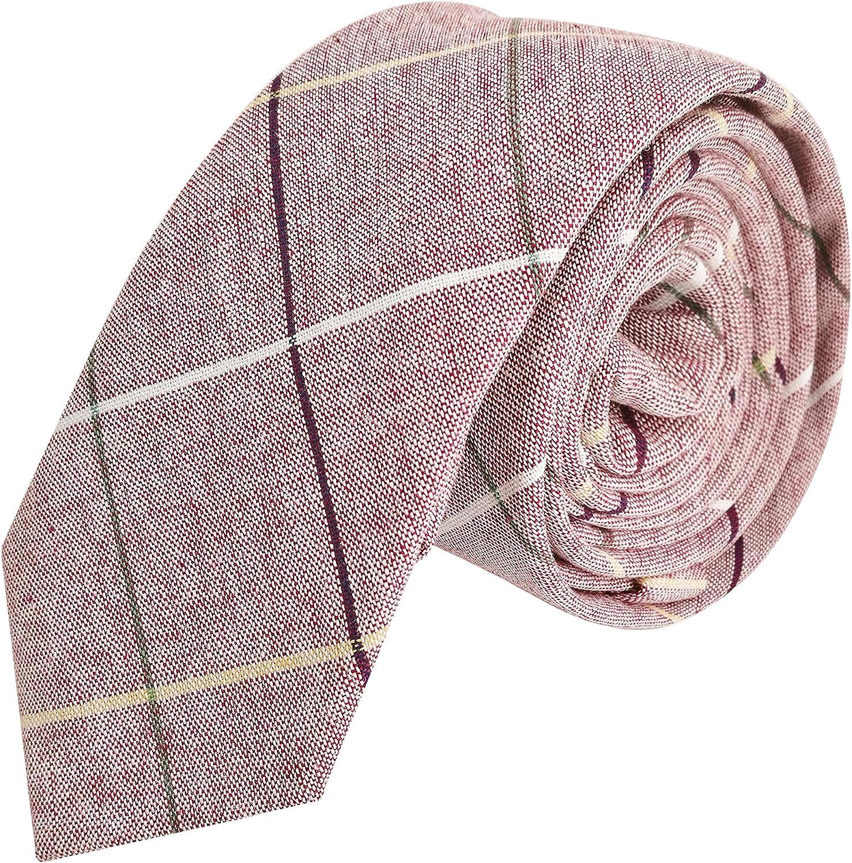 22 cm Pajarita Cl/ásica 6 12 cm /& Corbata Estrecha 6 cm /& Pa/ñuelo del Bolsillo 22 WANYING Hombre Algod/ón Casual 3 en 1 Set
