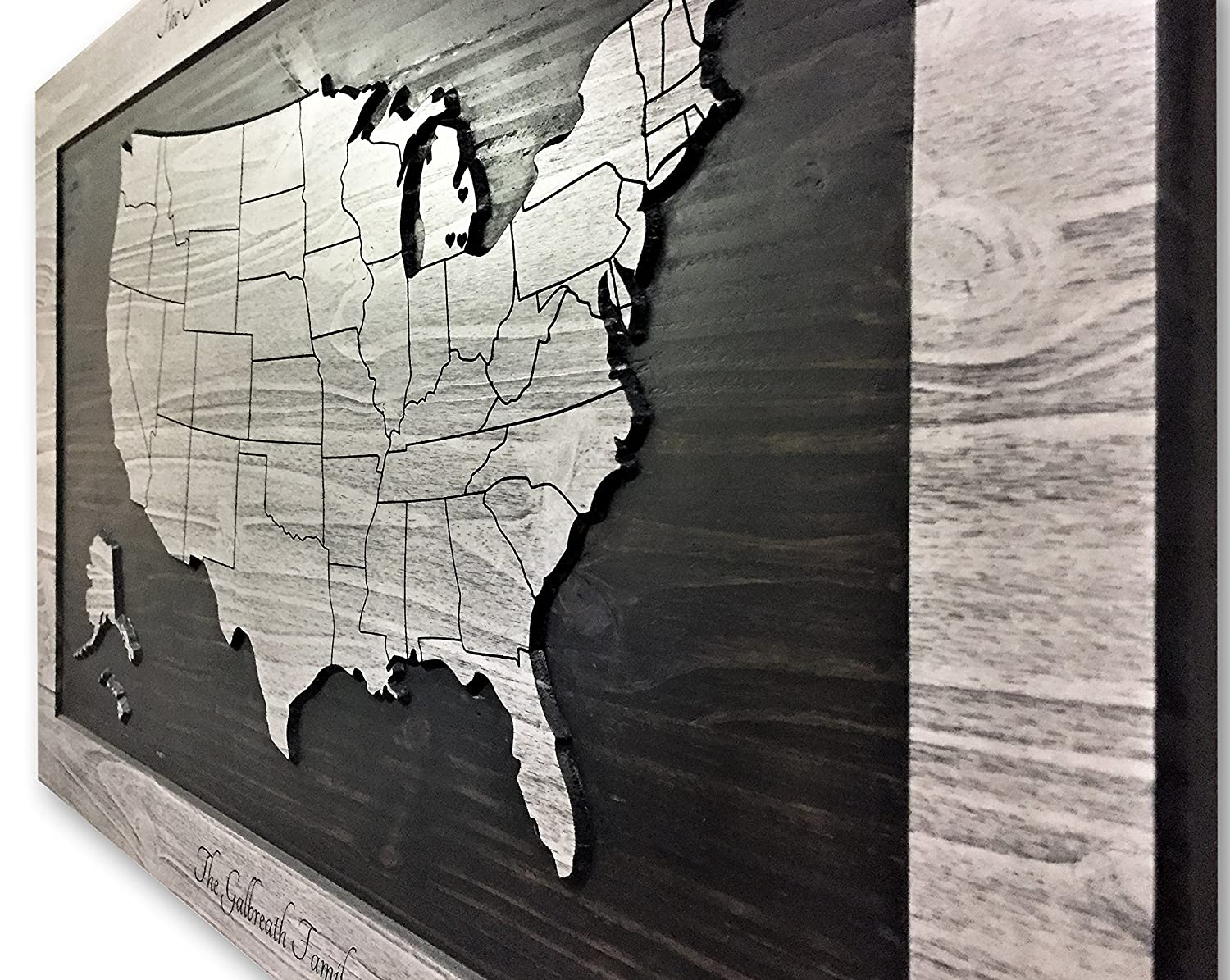 Amazon.com: Wood Wall Art, US Map Art, map of United States ... on map china, map graphics, map drawings, map history, map clothing, map curtains, map food, map fabric, map cartoons, map books, map projects, map puzzle, map wallpaper, map postcards, map dishes, map services, map accessories, map design, map home decor, map social work,