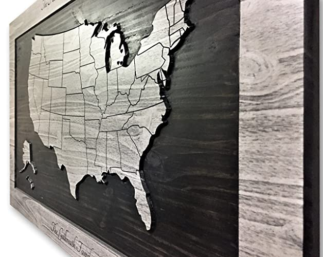 Amazon Com Wood Wall Art Us Map Art Map Of United States Of