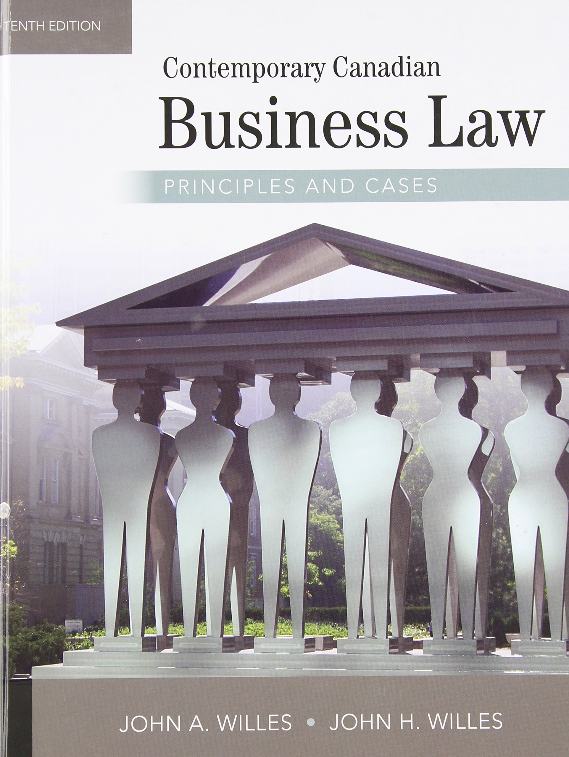 Contemporary Canadian Business Law Principles and Cases: John A Willes,  John H Willes: 9780070401853: Books - Amazon.ca