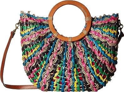 c9503081fe6 Amazon.com: Patricia Nash Women's Straw Lesa Tote Bright Multi One ...