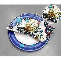 Miyanbazaz textiles Decoration Round Mesh Steel Napkin Rings Set of 4 for Wedding Banquet Dinner Decor Favor