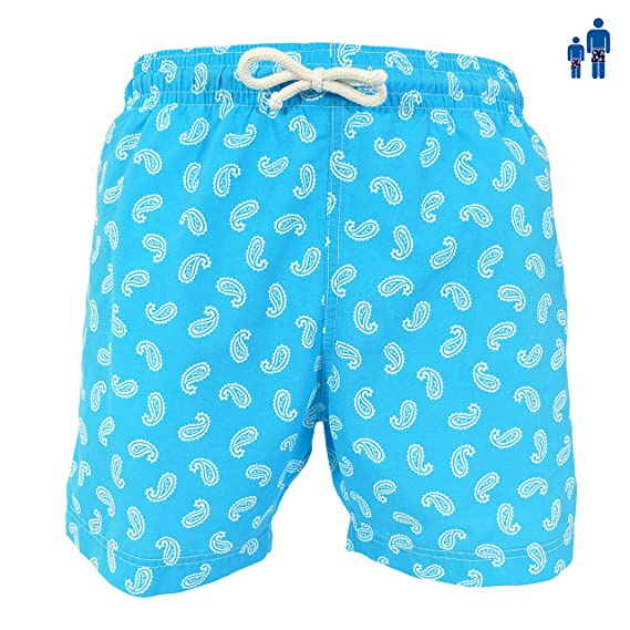 b93ee0e133 les loulous de la plage Boys Swimwear Swimming Beach Shorts Plain, Blue,  Pink, red, Green, Purple Orange - Julien: Amazon.co.uk: Clothing