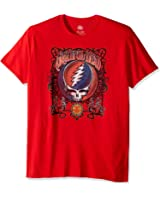 Grateful Dead Men's Logo Rock Tee Crew Neck Shirt
