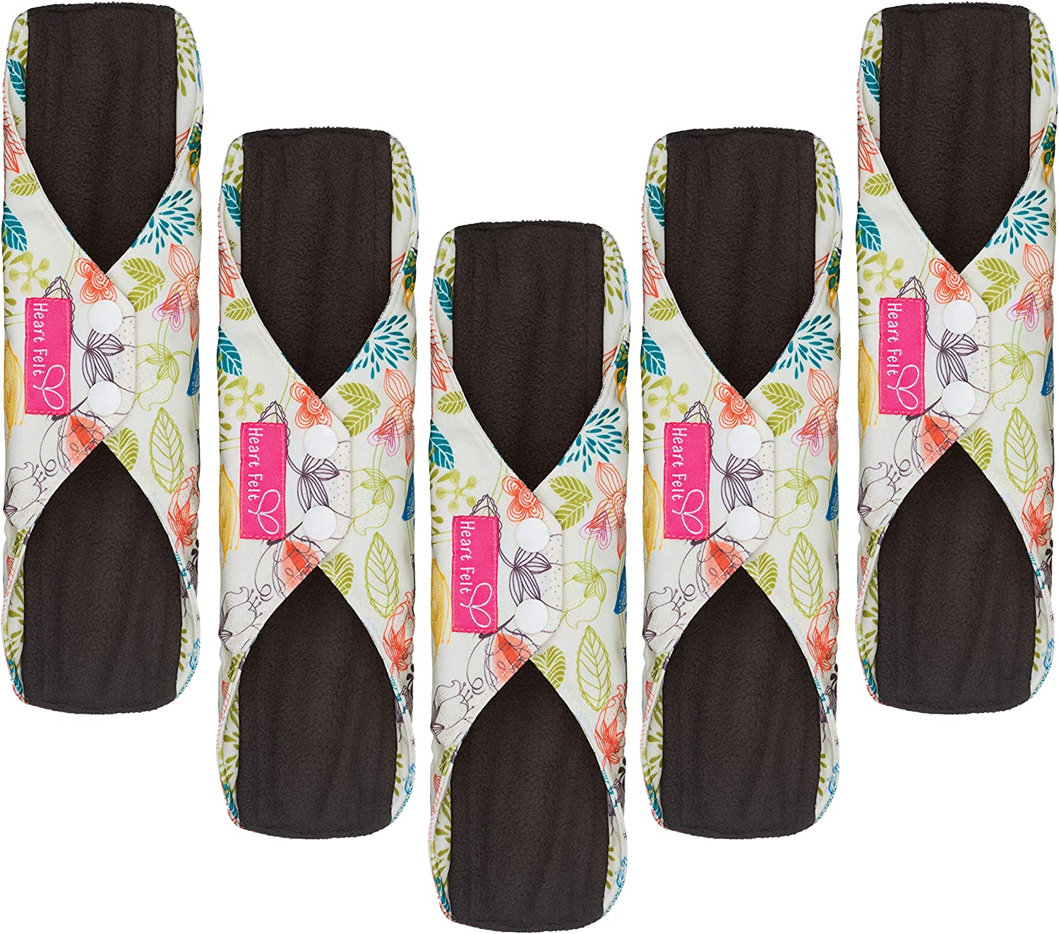 Yuehuam Washable Sanitary Towel Cloth Enstrual Pads 1PC Washable 4Layers Bamboo Charcoal Cloth Nappr Liner Reusable Diaper Insert Pad