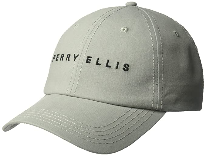 d5e8b4deaee Amazon.com  Perry Ellis Men s Logo Baseball Cap