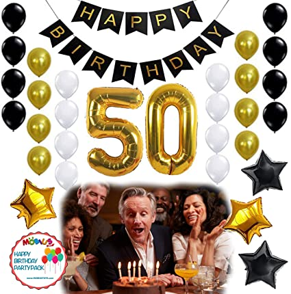 50th Birthday Party Ideas Source Amazon Com BIRTHDAY PARTY DECORATIONS KIT 31pcs White