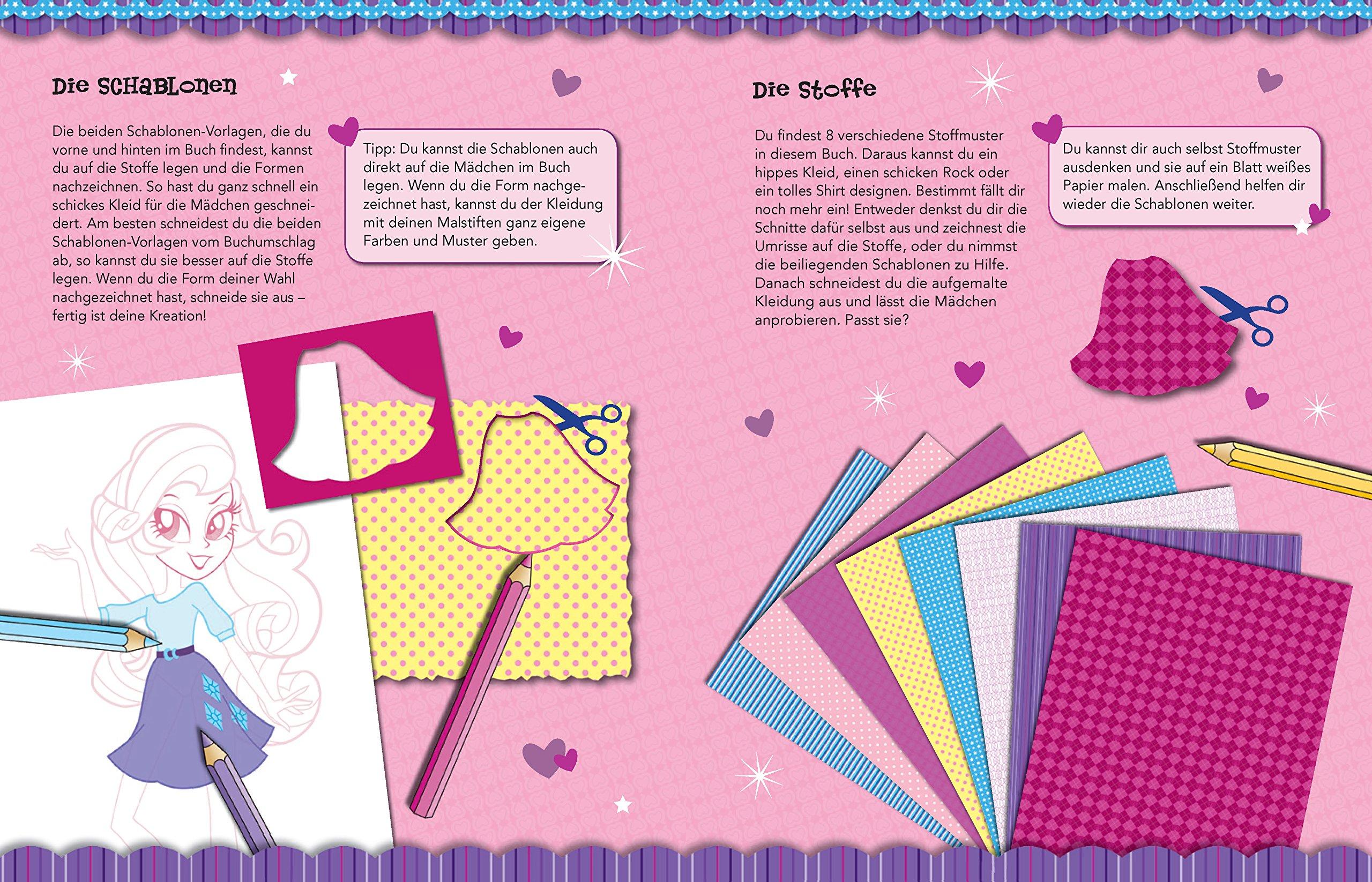 My Little Pony - Equestria Girls Modebuch pink : Mit Stickern und ...