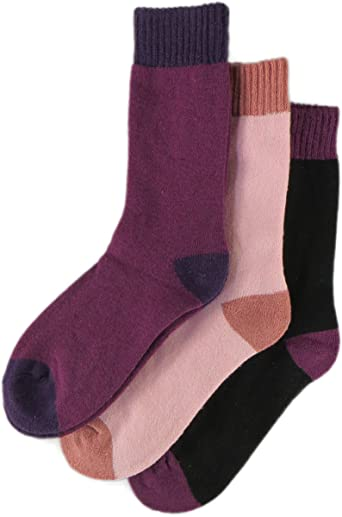 2 Pairs LADIES WOOL BOOT SOCK HIKING SOCK SOFT TOUCH WOOL