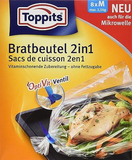 toppits 2 en 1 Brateck bolsas para horno y microondas ...