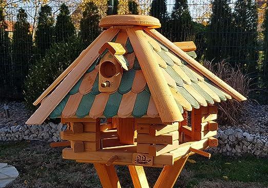 Pajarera Tejas Casas Pájaros con madera. Tipo 27: Amazon.es: Jardín