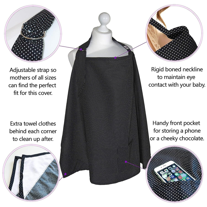 Aufbewahrungstasche und Handtuchecken stilvoll und diskret 100 /% Premium-Baumwolle atmungsaktiv und leicht inkl Stilldecke mit verstellbarem Riemen