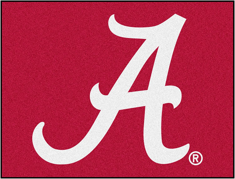 FANMATS NCAA University of Alabama Crimson Tide Nylon Face All-Star Rug