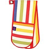 Dexam Cotton Kitchen Double Oven Glove in Multi-Colour Regatta Stripe