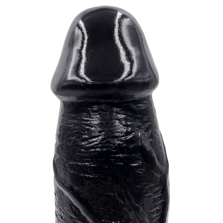 Suave Simulación Juguete Gran Consolador Femenino Masturbación Pene Grande Grande Pene Adultos Suministros,Black 3e5879
