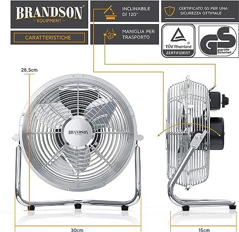 Brandson – Ventilador de mesa compacto y muy potente, 32 W, 3 ...