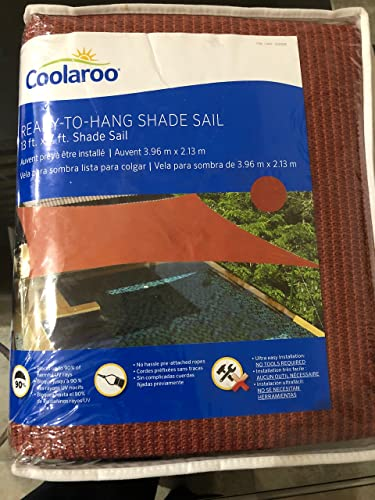 Coolaroo ready to hang shade sail 13ft canopy