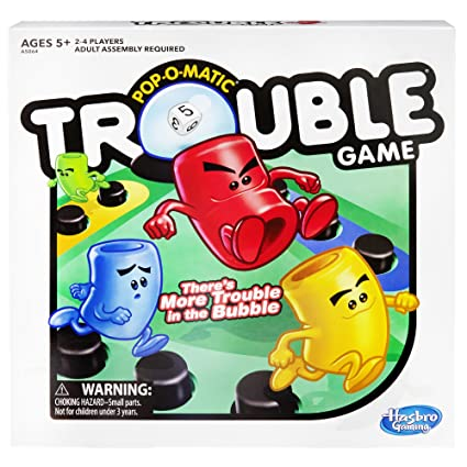 amazon com trouble game toys games