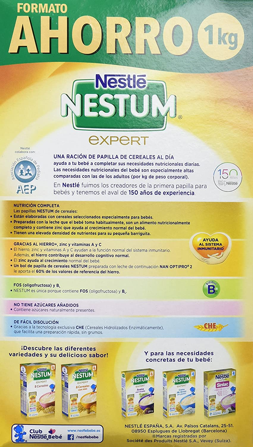 NESTLE Nestum Expert 8 Cereales con Galleta 1000 g: Amazon ...