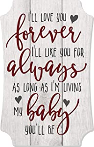 MRC Wood Products I'll Love You Forever Rustic Wall Sign 8x12