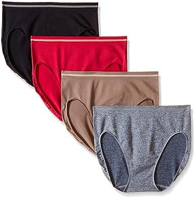 da5de51fd47c ELLEN TRACY Women's Seamless Flawless Fit Hi Cut Panty (Pack of 4) at  Amazon Women's Clothing store: