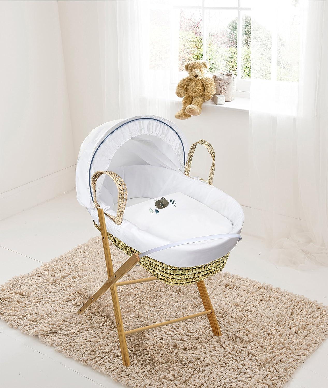 REDUCED Bear Palm Moses Basket & Folding Stand Elegant Baby