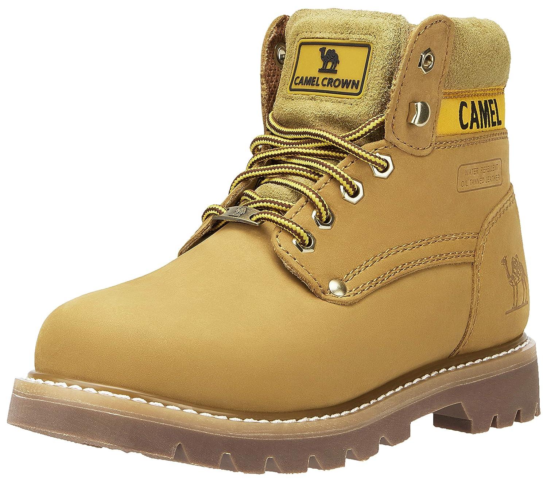CAMEL CROWN Bottes de Travail Hommes Femmes Cuir Véritable Botte de Protection Semelle en Caoutchouc Industrielle Imperméable à l'eau de Construction Chaussures
