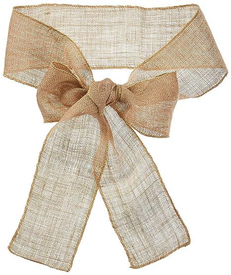 Amazon.com: linentablecloth Burlap silla Sash: Home & Kitchen