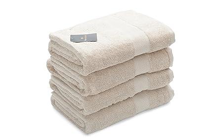 Toalla de algodón puro de Tivoli / 150 x 100 cm / Set de 4 /