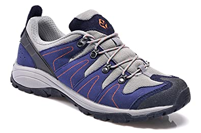 Trail Hiking Walking Sneakers Shoes For Men Leather Mesh Upper Purple Stylish Running Shoes