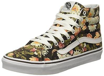 2fd42b8972 Vans SK8 Hi Slim Mens Unisex Abstract Floral Demitasse Multicolor Fashion  Shoes Size  8.5 Womens