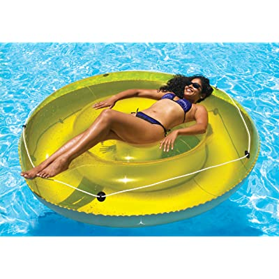"Swimline 9050 - 72"" Swimming Pool SunTan Island Inflatable Lounger,Blue: Toys & Games"