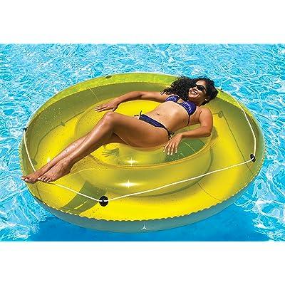 "Swimline 9050 - 72"" Swimming Pool SunTan Island Inflatable Lounger,Blue: Toys & Games"