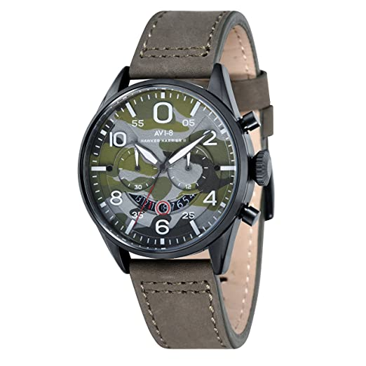 AVI-8 Reloj analógico para Hombre de Cuarzo con Correa en Piel AV-4031-08: Amazon.es: Relojes