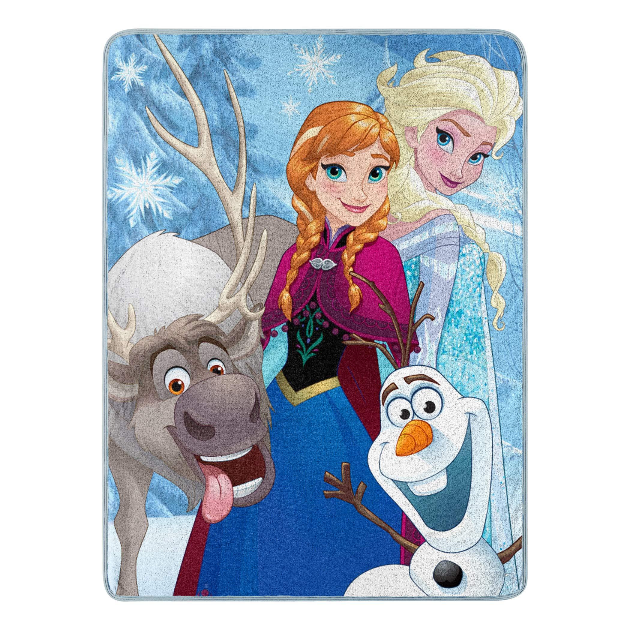 Disney's Frozen, ''Winter Bunch'' Micro Raschel Throw Blanket, 46'' x 60'', Multi Color by Disney