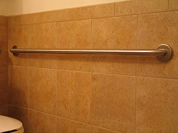 fpl 36 inch stainless steel grab bar with concealed mounting for handicap bath and shower