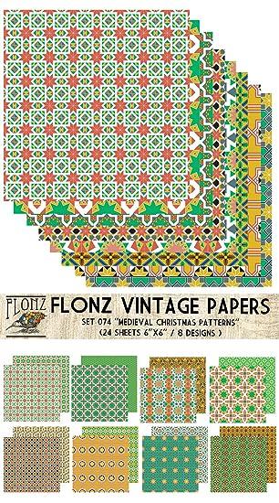 Paper Pack (24blatt 15x15cm) Mittelalterliche Weihnachten Muster ...