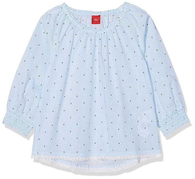 49d7cfedc s.Oliver 58.804.19.2487, Blusa para Niñas, Azul (Blue AOP 53A1) 4 ...