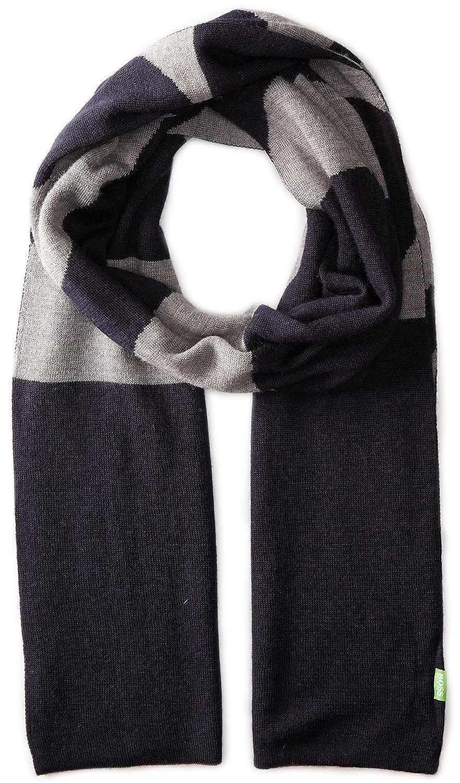 BOSS Green Men's Knitties Scarf Black One Size 50272574