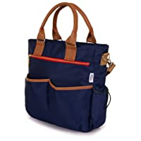 Babetta Baby Changing Bag - Durable Lightweight Luxury Stylish Satchel With Wipe Clean Fabric And Shoulder Strap + Changing Mat (Navy)