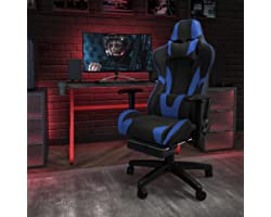 Flash Furniture CH-187230-BL-GG-X30 Gaming Racing Office Ergonomic Computer Chair Blue LeatherSoft, X30