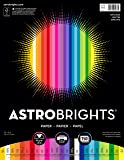 "Astrobrights Color Paper, 8.5"" x 11"", 24 lb/ 89 gsm,  25-Color Spectrum, 150 Sheets (80933-01)"