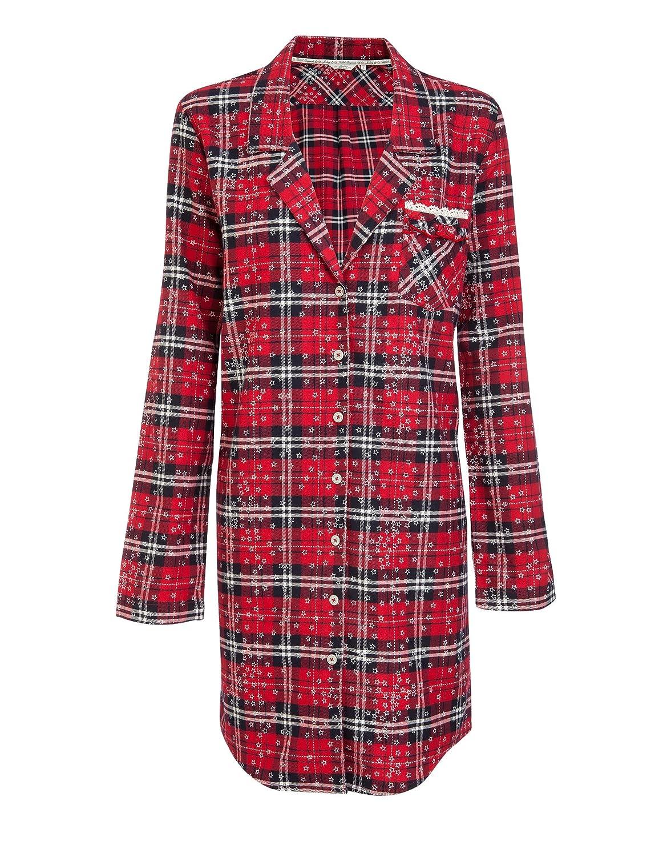 Jockey Damen Nachthemd Baum Wolle Dessous Kariert - Größe: XXL - Farbe: Blau